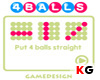 เกมส์เกมส์เรียง 4 (4 Balls)
